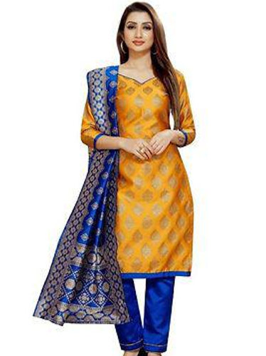 *Brocade Dress Material with Dupatta*