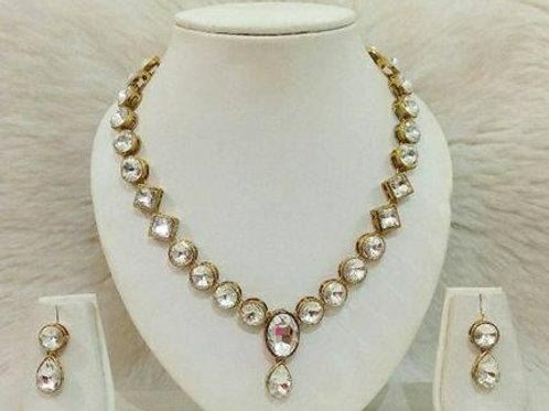 Partywear Kundan Alloy Necklaces set