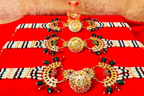 Beautiful Gold Look Big Size Mehri