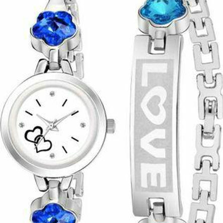 Combo Of Metal Watch and Bracelet For Women