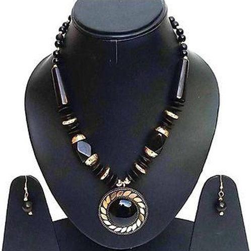 Trendy Designer beaded necklace set