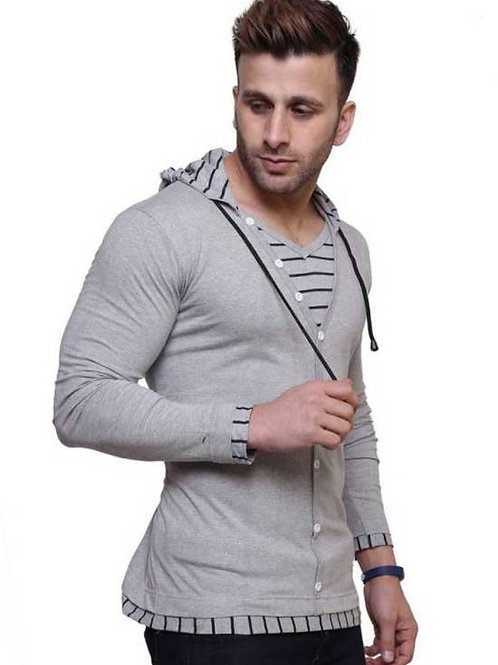 Men's Trending Cotton Hooded T-Shirts