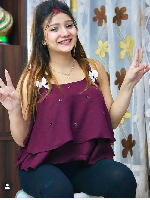 Flairy  butterfly top