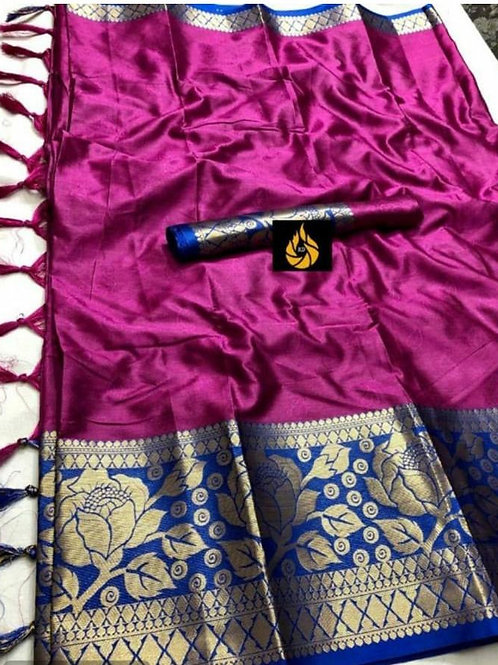 RICH COTTON SILK WITH EMBOSSED LOOK SAREE