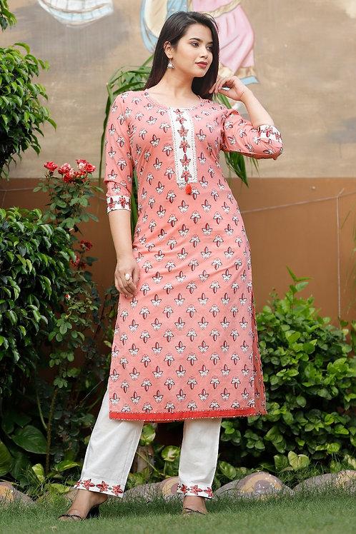 Cotton kurti with pant