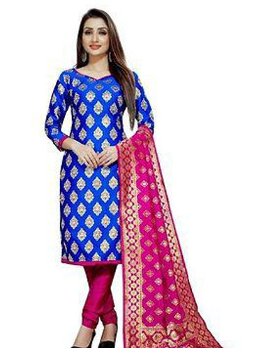 *Brocade Dress Material with Dupatta*