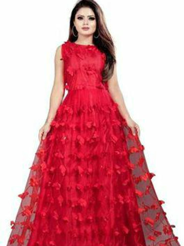 Stylish Attractive Butterfly Stitched Gowns