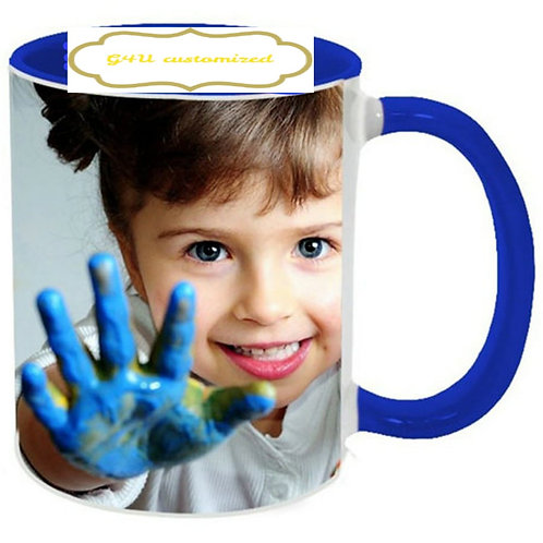 inside colour customized mug