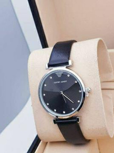 Round Dial Synthetic Leather Strap Watches For Women!!