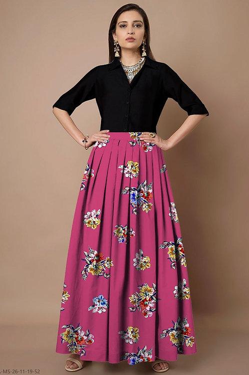 Partywear rayon top & skirt