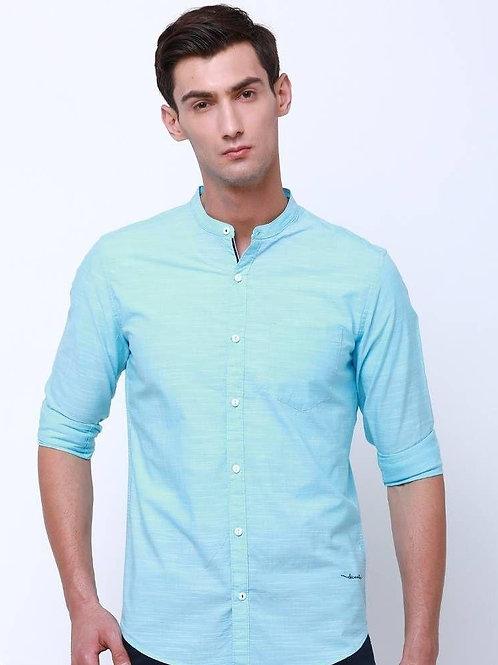 Men's Slim Fit Cotton Blend Solid Casual Shirts