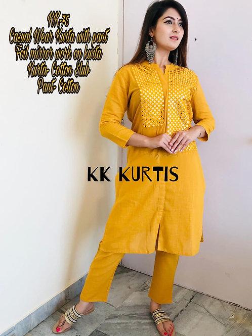Beautiful Casual wear Kurta with pant
