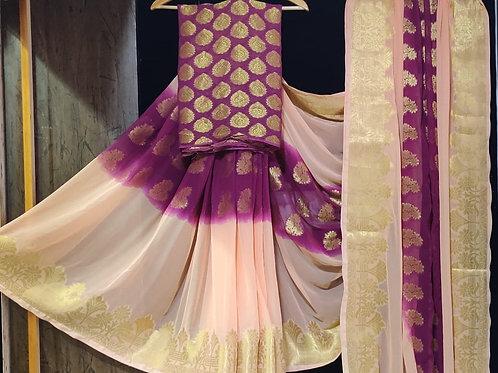 beautiful gorgett heavy banarsi  saree