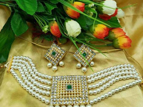 Pearl Choker Necklace Sets