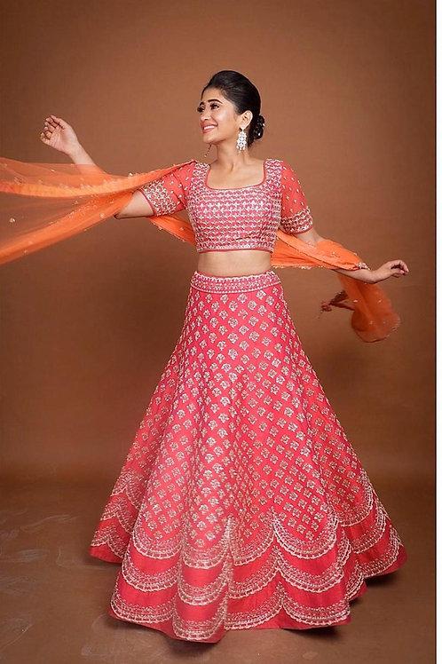 banglory satin lehengha Choli  With Duppta Net