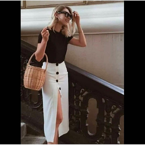 Top+slit skirt combo