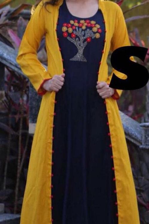 Rayon kurti with shrug