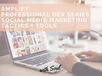 Amplify. Professional Dev Series Social Media Marketing Tactics + Tools