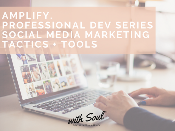 Amplify. Professional Dev Series Social Media Marketing Tactics + Tools