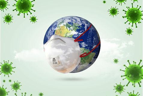 world Corona virus attack concept. world