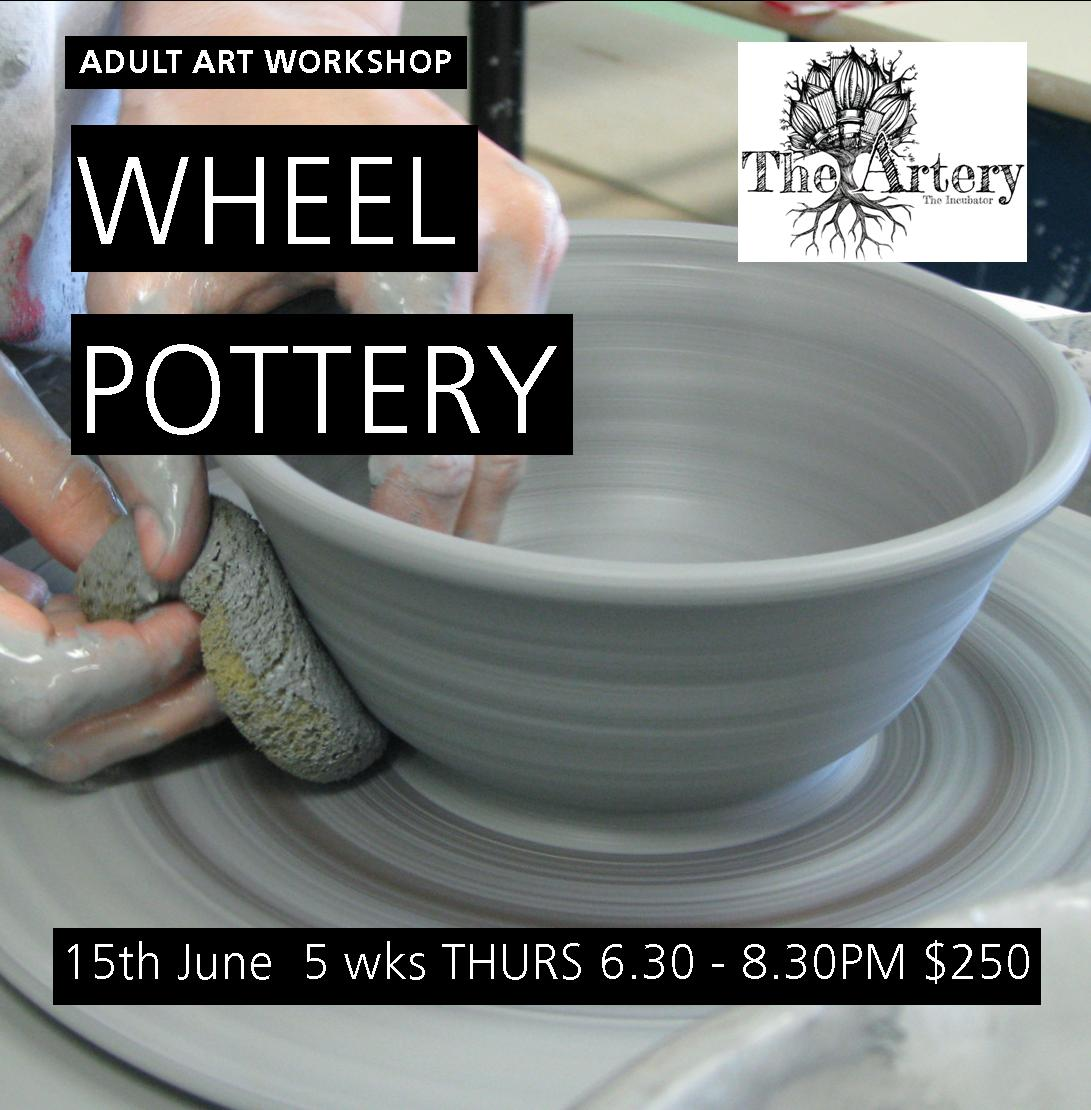 Wheel Pottery Flyer