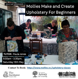 Upholstery for Beginners May
