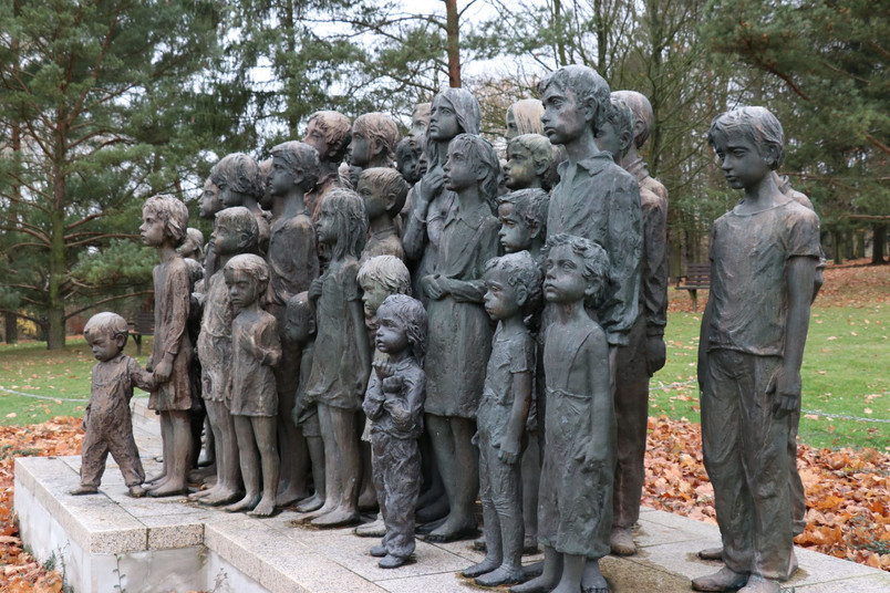 Lidice Memorial Sculpture