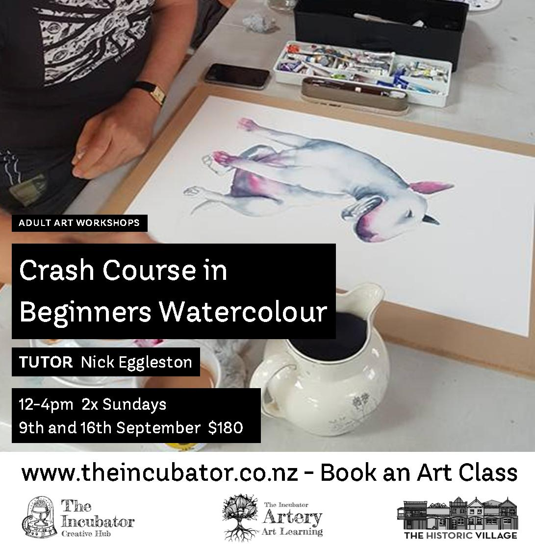 Crash C Beginners watercolour september.