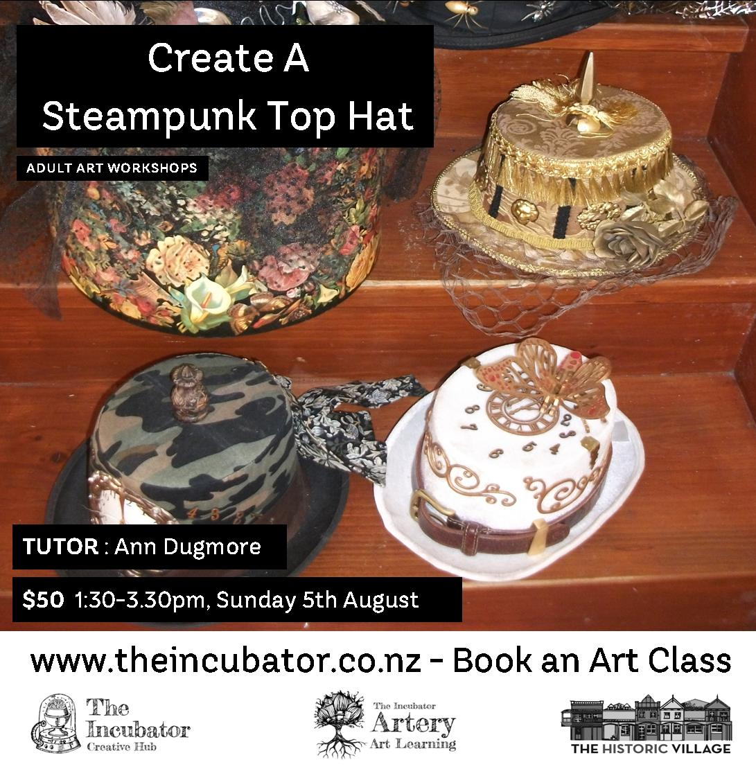 Steampunk Top Hat - Ann Dugmore