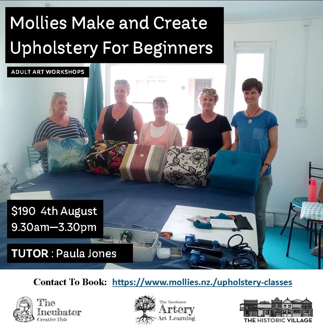 Upholstery for Beginners august