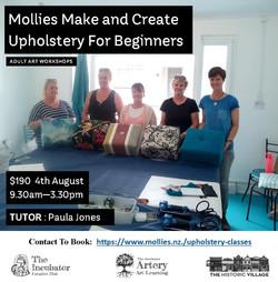 Upholstery for Beginners august