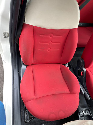 Before Seat Deep Cleaning