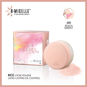 Lady Audrey Rice Loose Powder 001 Peach Parfait
