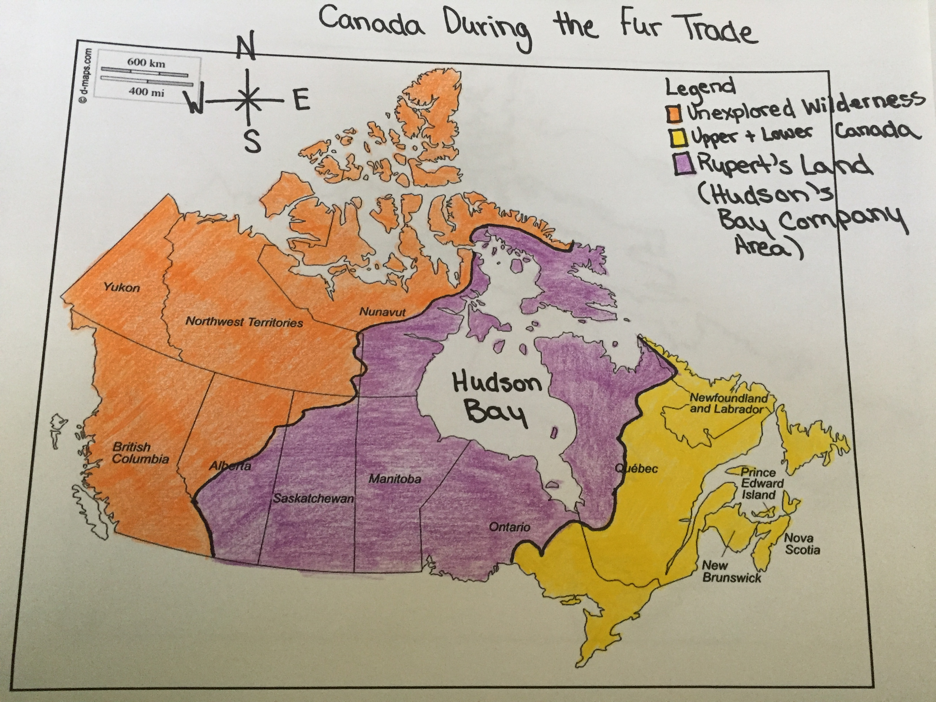 Map Canada Then and Now
