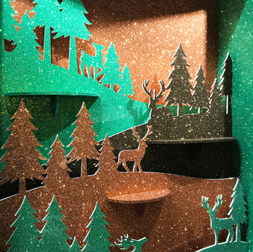 Woodland Forest Silhouette - Christmas Display