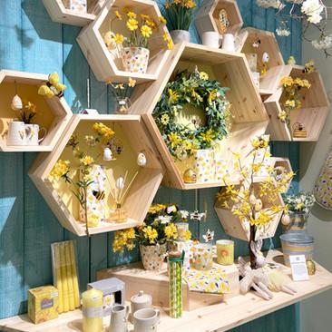 Bespoke Hexagonal Wall Units - Easter Display