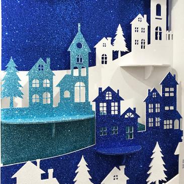 Winter Village Silhouette - Christmas Display