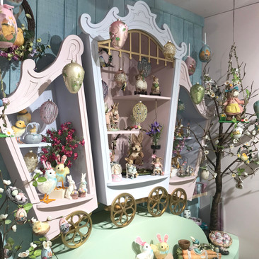 Whimsical Victorian Carriges - Easter Display