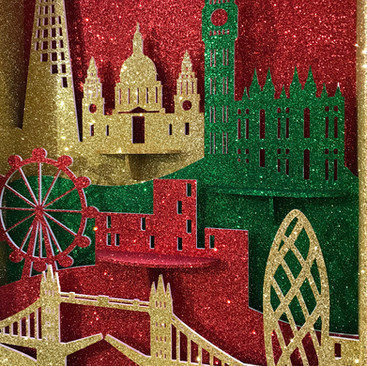 London Skyline Silhouette - Christmas Display