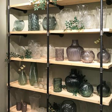 Industrial Shelving Vase Display