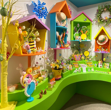 Bright Bird Houses - Easter Display