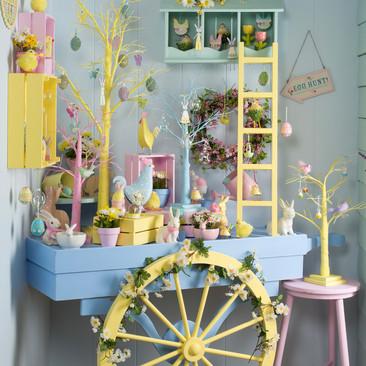 Springtime Hand Cart - Easter Display