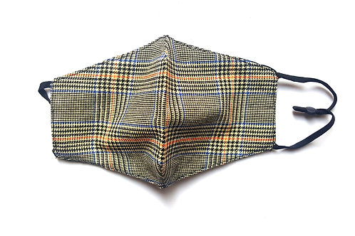 Sima Brown Plaid Mask