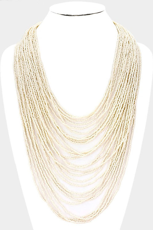 Multi Layer Bead Necklace
