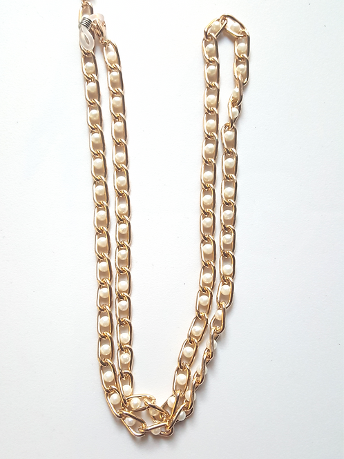 Gold/Pearl Mask Chain
