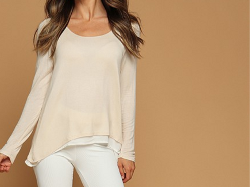 Double Layer Top (Avail in Wht or Blk)