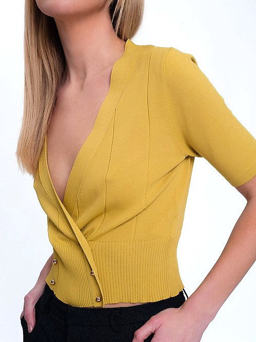 Vela Double Breast Knit Top
