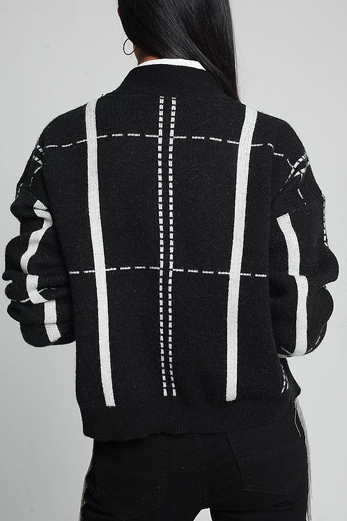 Vela Grid Sweater