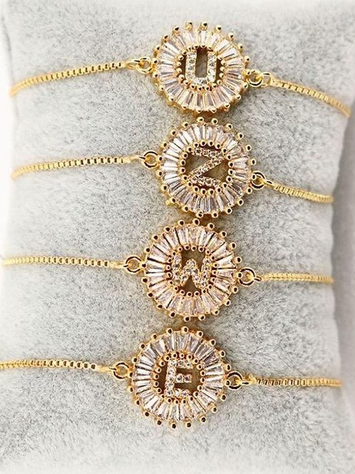 Monogram Gld Plated Bracelet