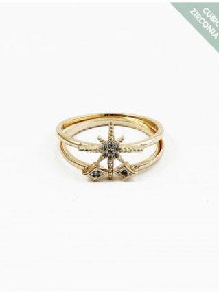 Starburst Ring(gld/Slvr)